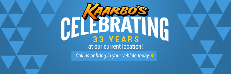 Kaarbo's Auto Repair, Inc. is celebrating 33 years at our current location! Click here to contact us.