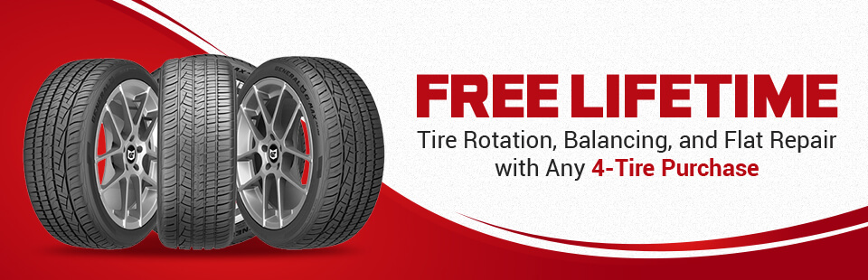 Get Free Lifetime Tire Rotation Balancing And Flat Repair With Any 4