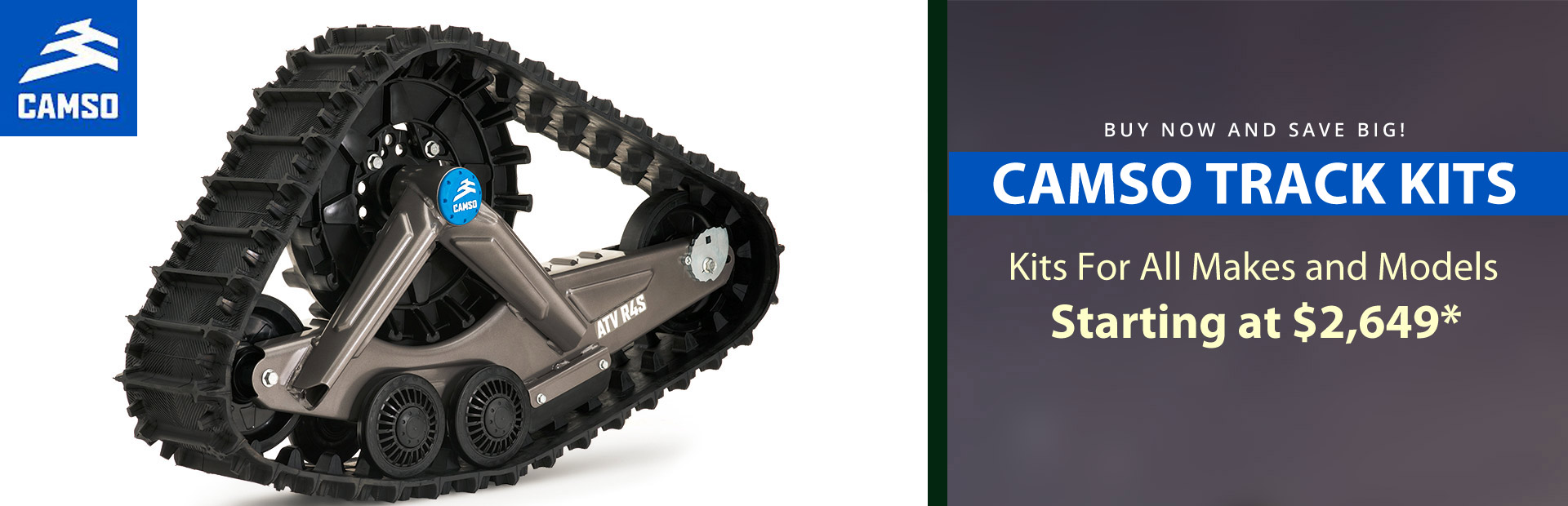 Casmo Track kits starting at $2,649