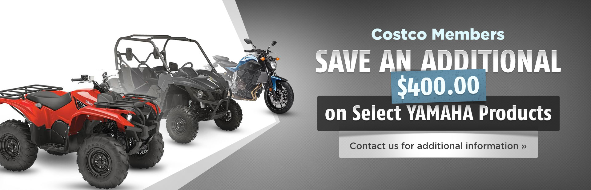 Costco Members: Save an additional $400.00 on select Yamaha products! Click here to contact us.