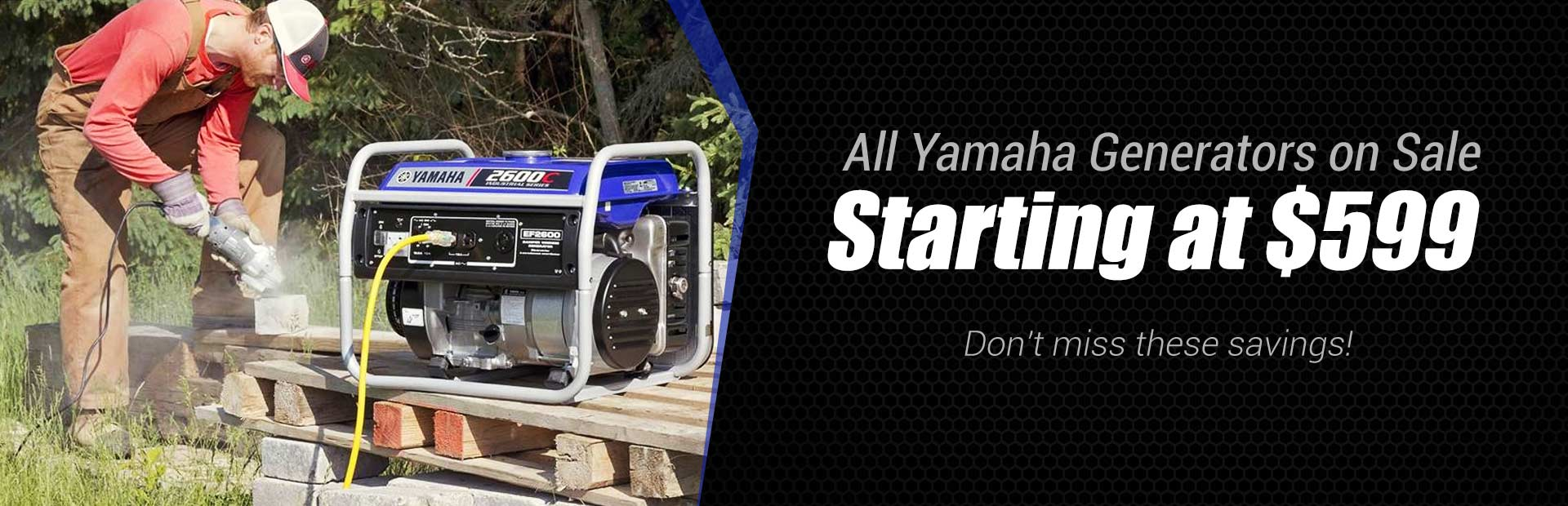All Yamaha Generators on Sale: Don't miss these savings!