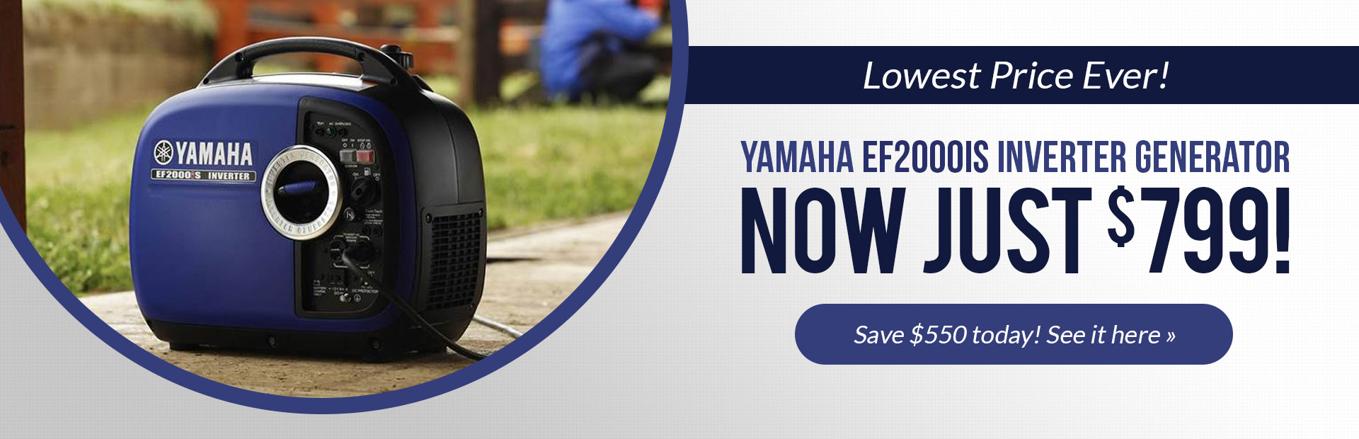The Yamaha EF2000iS inverter generator is now just $799!