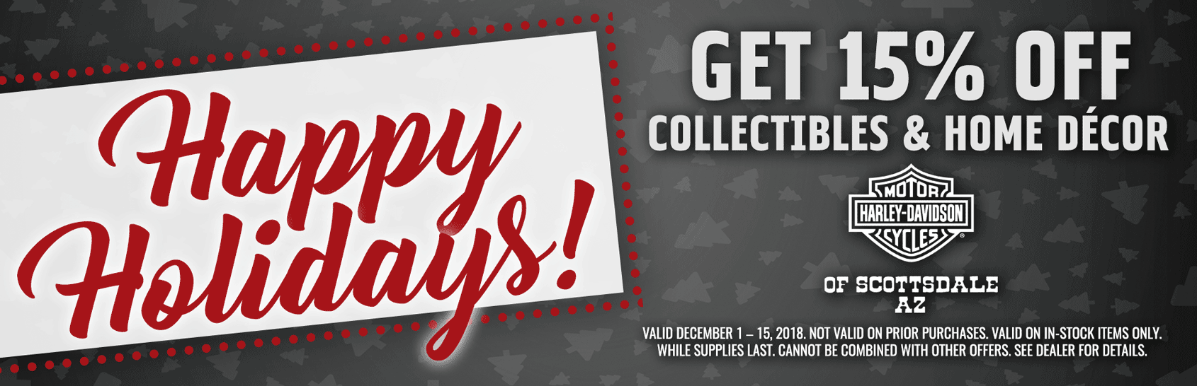 15% off collectibles & home decor