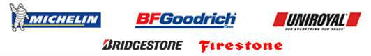 We proudly carry products from Michelin®, BFGoodrich®, Uniroyal®, Bridgestone, and Firestone..