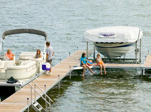 Shoremaster Docks, in Annandale, MN