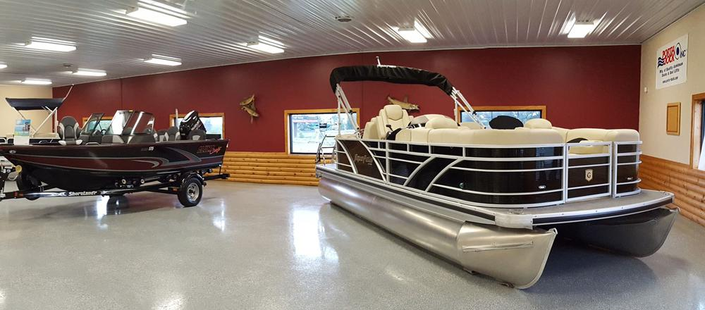 J & J Marine indoor showroom Annandale, MN
