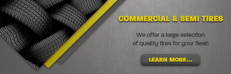 Contact us for Commercial & Semi Tires in Anchorage, AK! Let us fit your fleet!