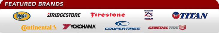 We proudly offer products from: Bandag, Bridgestone, Firestone, ACTN, Titan, Continental, Yokohama, Cooper, and General Tire.