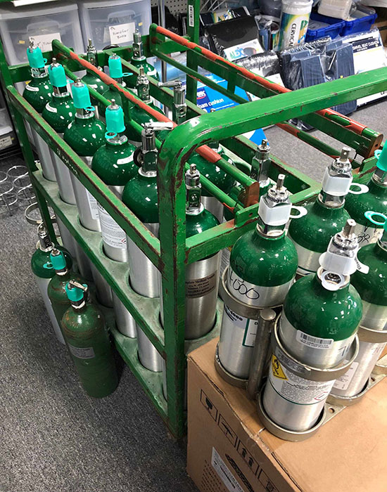 Our oxygen supplies