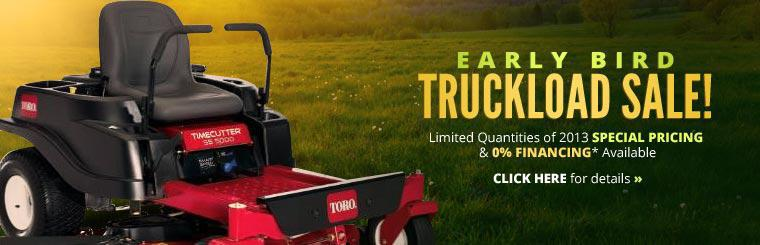 Early Bird Truckload Sale: Click here for details.