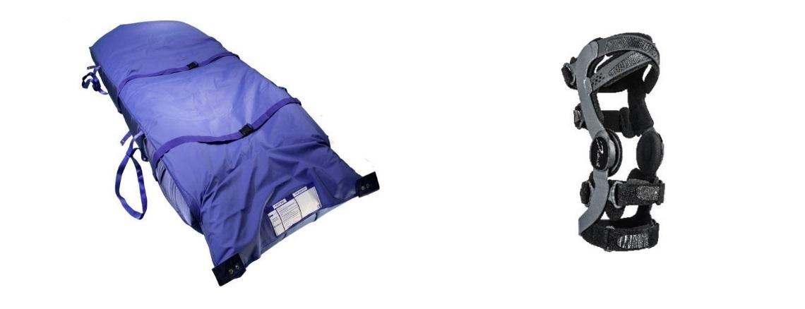a assist patient transfer mat & functional knee brace