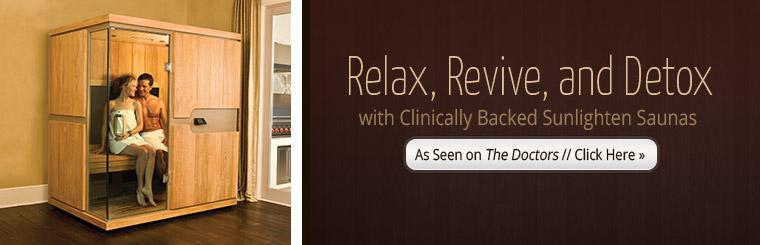 Clinically Backed Sunlighten Saunas: Click here for details.