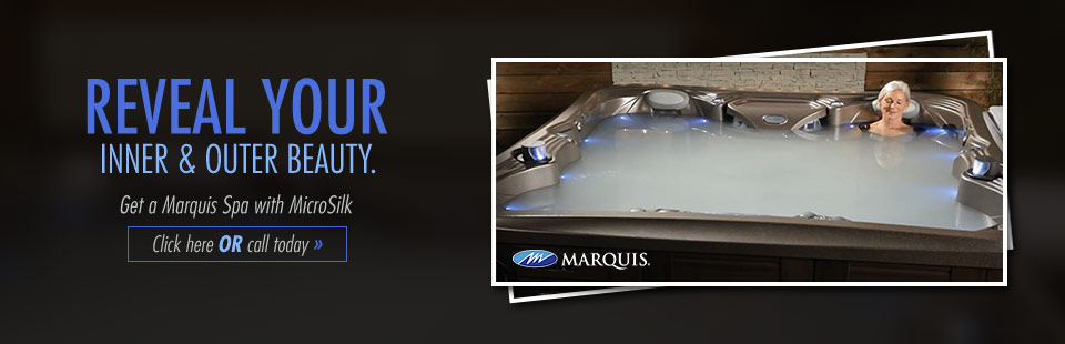 Reveal your inner and outer beauty with a Marquis Spa with MicroSilk! Click here to view our selection