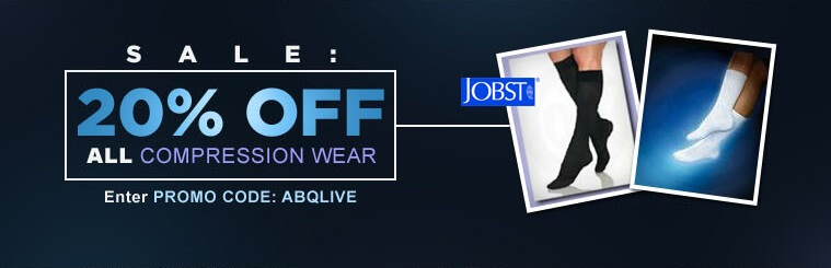 Sale 20% Off All Compression Wear. Free shipping on all Jobst orders over $100