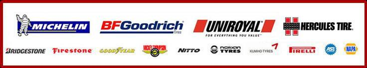 We carry products from Michelin®, BFGoodrich®, Uniroyal®,Hercules, Bridgestone, Firestone, Goodyear, Mickey Thompson, Nitto, Nokian, Kumho, and Pirelli. We are ASE certified. NAPA.