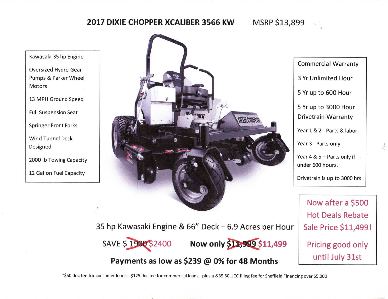 2017 dixie chopper xcaliber 3566 kw for sale in cornwall vt 1 7 pooptronica