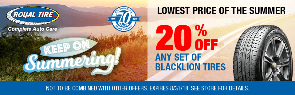 Lowest Price of the Summer, Save 20% Off Any Set of Blacklion Tires