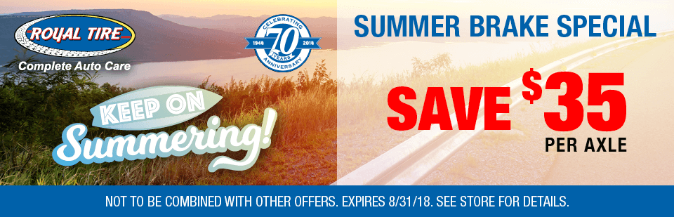 Summer Brake Special - Save $35 Per Axle