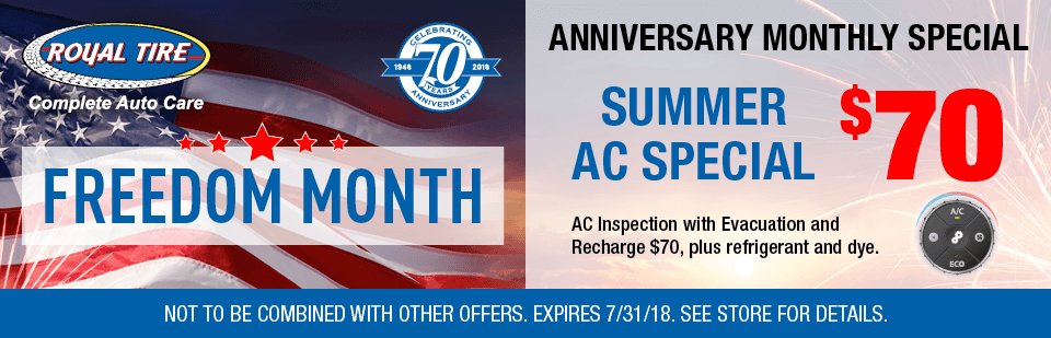 Anniversary Monthly Special Summer AC special $70