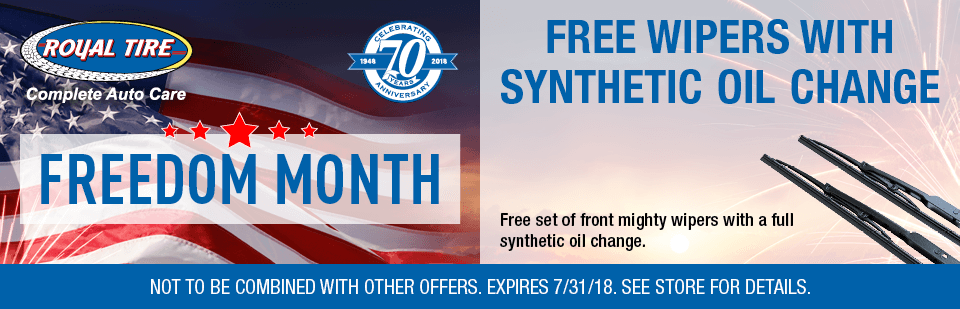 Free Wipers with Synthetic Oil Change