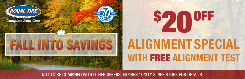 $20 off Alignment Special with FREE Alignment test!