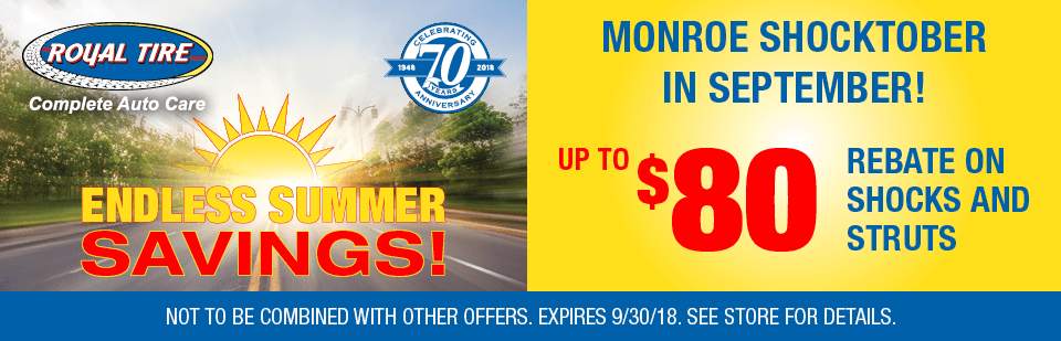Monroe Shocktober in September! Up To $80 Rebate on Shocks and Struts
