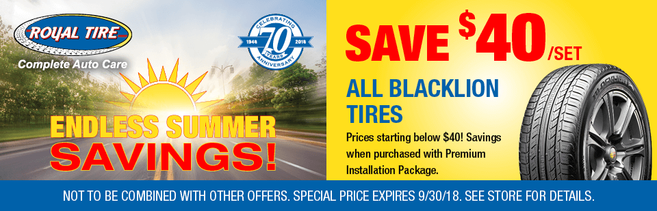 Save $40/set all Blacklion Tires
