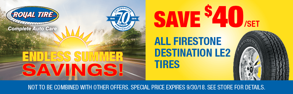 Save $40/set all Firestone Destination LE2 Tires
