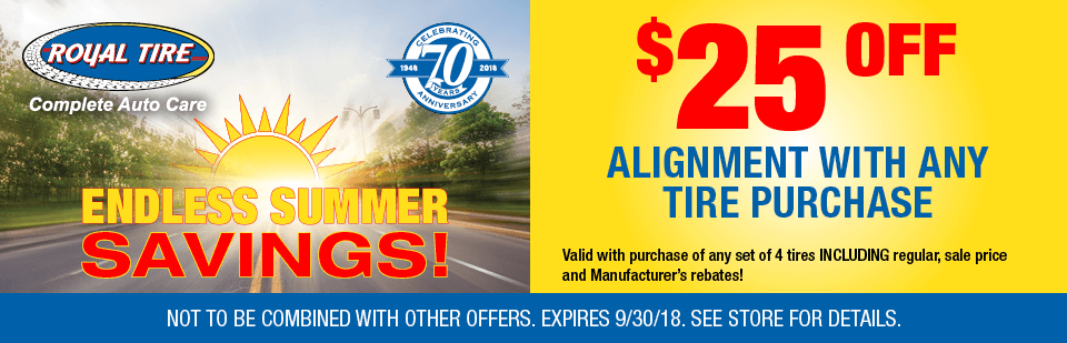 $25 off Alignment with Any Tire Purchase