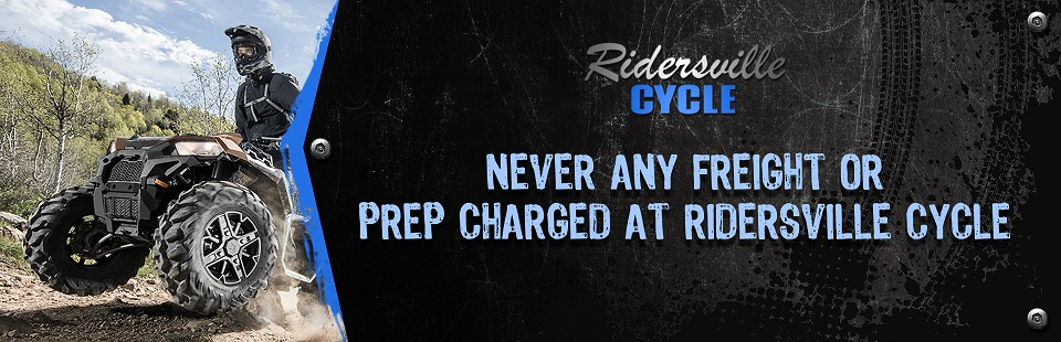Never Any Freight or Prep Charged at Ridersville Cycle: Click here to browse the models.