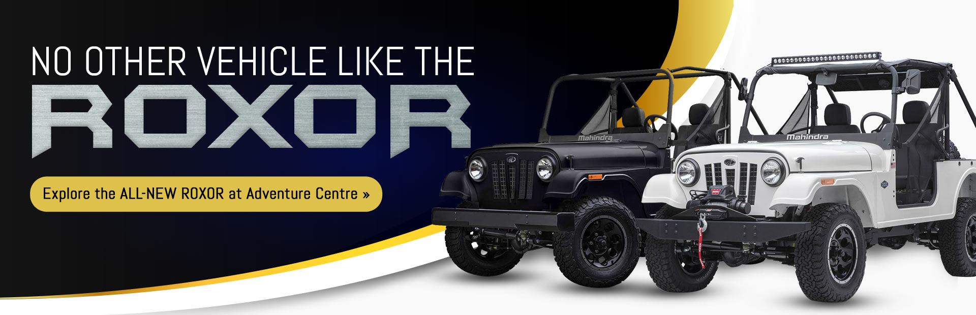 Explore the all-new Mahindra ROXOR at Adventure Centre!