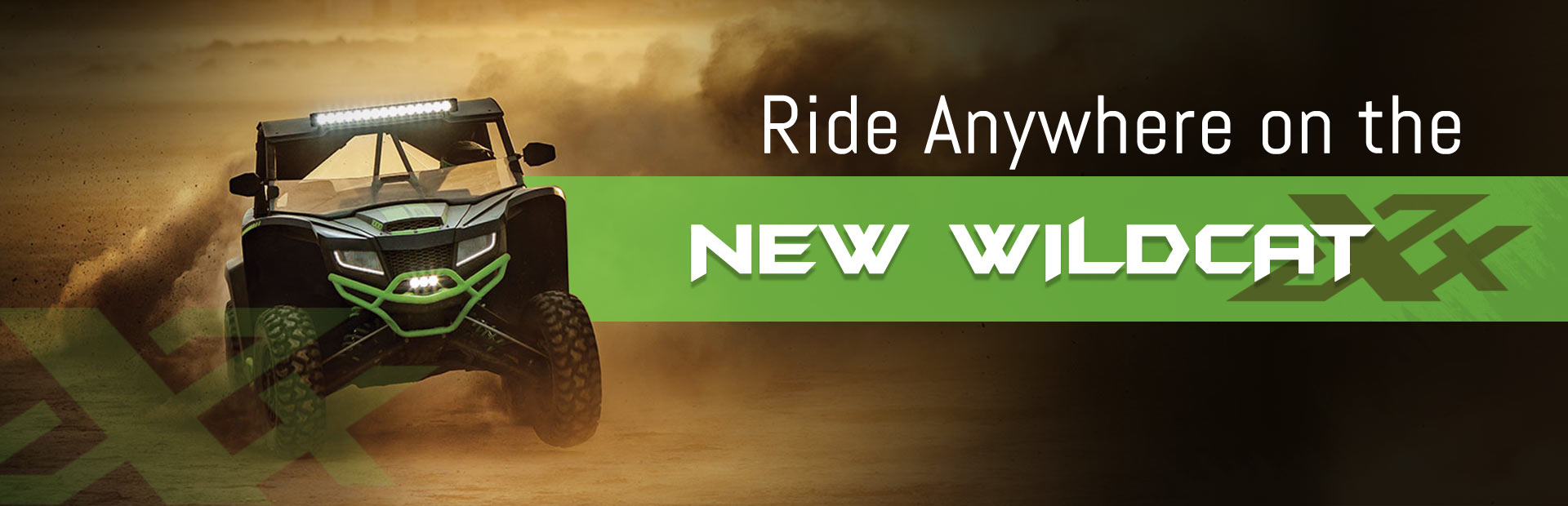Ride anywhere on the new Wildcat XX!