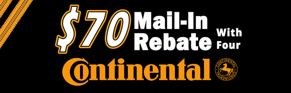 $70 Mail-In Rebate with Four Continental