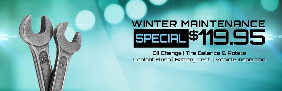 Winter Maintenance Special: Now just $119.95! Click here for details.