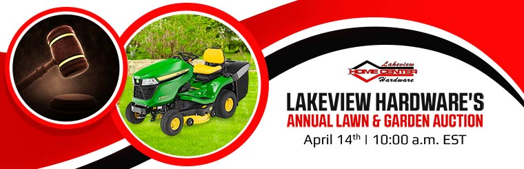 Join us April 14th for Lakeview Hardware's Annual Lawn & Garden Auction!