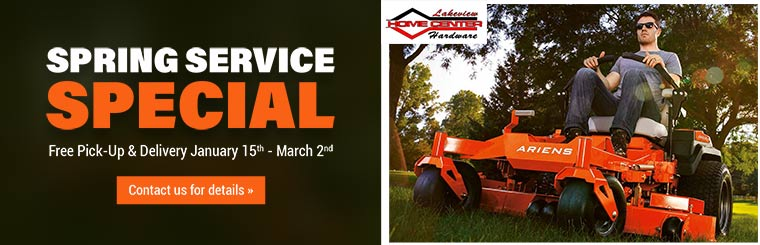 Spring Service Special: Get free pick-up and delivery January 15th through March 2nd! Contact us for details.