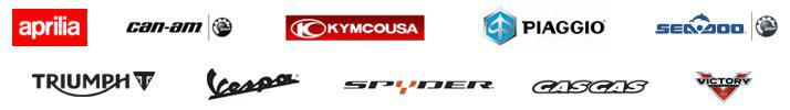 We offer products from Aprilia, Can-Am, KYMCO, Piaggio, Sea-Doo, Triumph, Vespa, Can-Am Spyder, GasGas, and Victory.