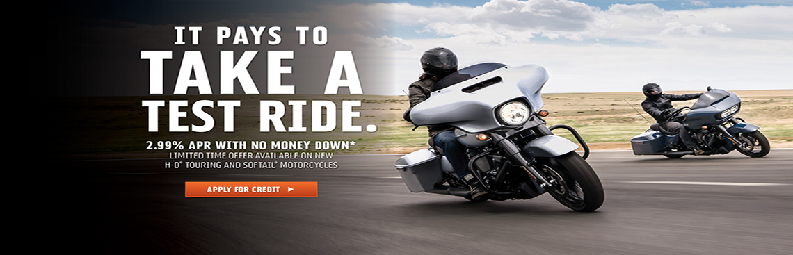 2.99% Touring& Softail Finance