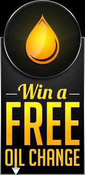 Win a free oil change by signing up below!