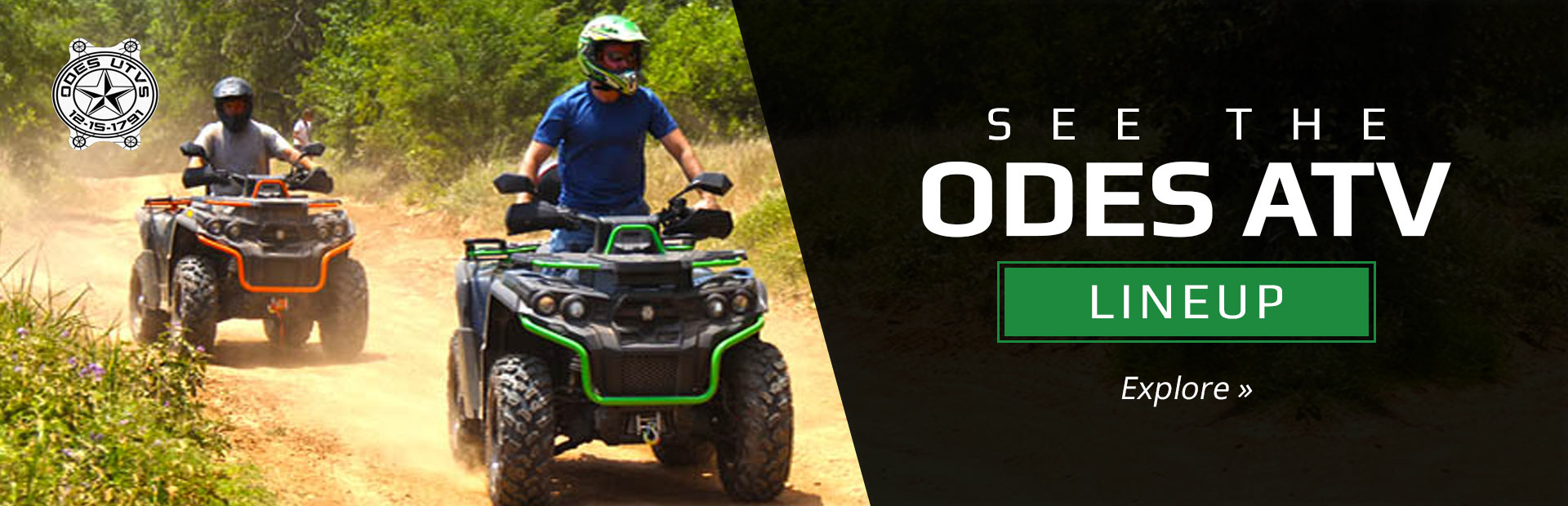 2019 ODES ATVs: Click here to view the models.