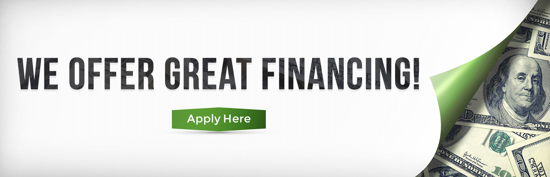 We offer great financing! Click here for details.