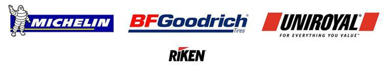 We proudly carry products from Michelin®, BFGoodrich®, Uniroyal®, and Riken.