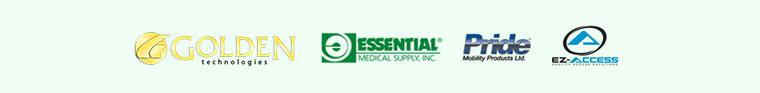 We carry products from Golden Technologies, Essential Medical, Pride, and EZ Access.