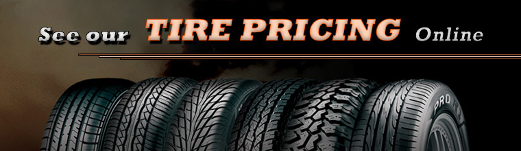 See our tire pricing online.