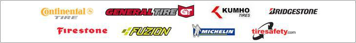 We carry products from Continental, General, Kumho, Bridgestone, Firestone, Fuzion, Michelin®, and TireSafety.com