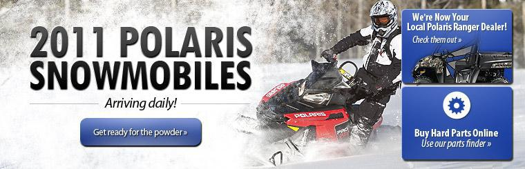 2011 Polaris snowmobiles are arriving daily! Click here to get ready for the powder with a new sled.