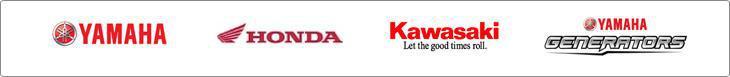 We carry products from Yamaha, Honda, Kawasaki, and Yamaha Generators.