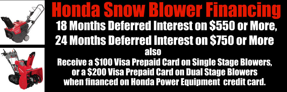 Honda SnowBlower Financing