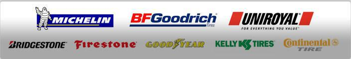 We offer products from Michelin®, BFGoodrich®, Uniroyal®, Bridgestone, Firestone, Goodyear, Kelly, and Continental.