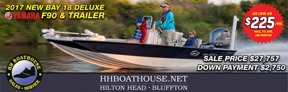G3 New Bay 18 Deluxe 2017 hh boathouse hilton head sc bluffton sc